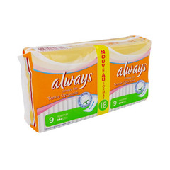 Serviettes hygieniques Simply Fits normal ALWAYS Ultra, 18 unites