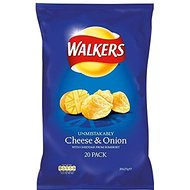 Walkers Crisps - Cheese & Onion (20x25g)