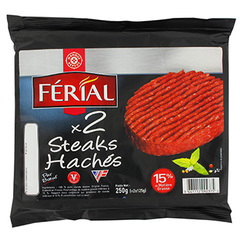Steack hache Ferial 15%mg 2x125g