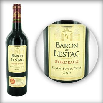 bordeaux 2010 baron de lestac tous les produits vins