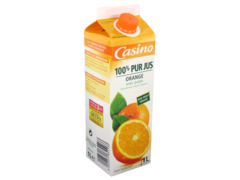 Jus de fruits frais orange