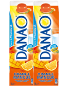 Boisson lactee Danao Orange mangue 2x1l