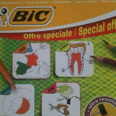 crayons couleur x 18 bic