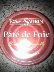 Pâté de foie pur porc WILLIAM SAURIN, 78g