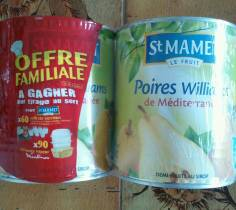 St Mamet poires william x2 -910g