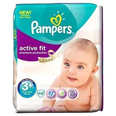 Pampers active fit geant T3 + (5/10kg) midi plus x40