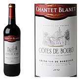 COTES BOURG CHANTET BLANET rouge 75 cl