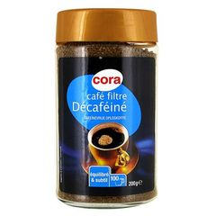 Cafe filtre decafeine soluble