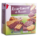 Auchan assortiment de biscuits patissiers 750g