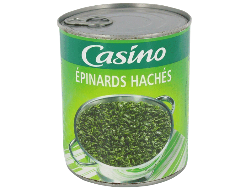 Epinards haches Casino 795g