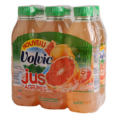 Eau aromatisee Volvic Jus d'agrumes 6x50cl
