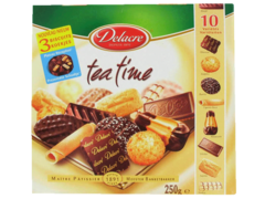 Assortiment de 10 varietes biscuits, tea time, la boite de 250g