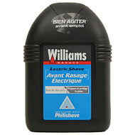 Williams, Electric Shave - Lotion avant rasage electrique, le flacon de 100ml