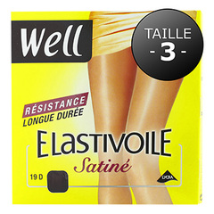 Collants Well Elastivoile Satine noir T3