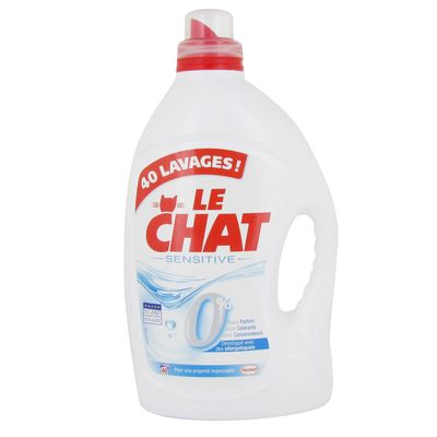 Le Chat, Sensitive - Lessive liquide, le bidon de 3l