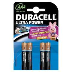 Duracell, Piles alcalines ultra power lr03 aaa, le lot de 4