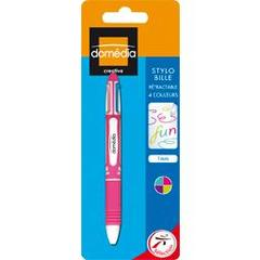 Stylo bille retractable 4 couleurs, 1mm, l'unite