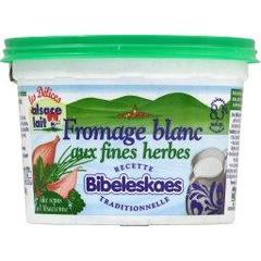 Fromage blanc aux fines herbes Bibeleskaes ALSACE LAIT, 8,3%MG, 500g