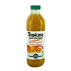 Jus d'orange avec touche de mangue TROPICANA PURE PREMIUM, 1l