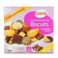 Cora assortiment biscuits 750g