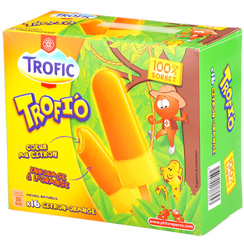 Batonnet Trofic Trofi'o Orange citron x16 80cl