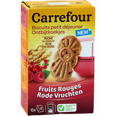 Biscuits cereales et fruits rouges, Biscuits petit dejeuner