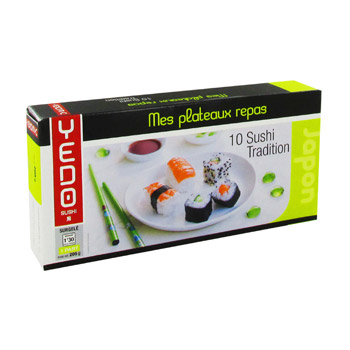 Mes plateaux repas - 10 Sushi tradition