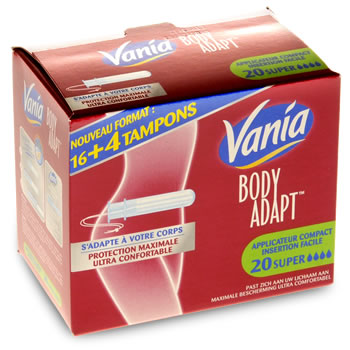 Vania Tampons avec applicateur compact super x20