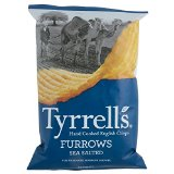 Tyrrells Furrows Hand Cooked English Crisps - Sea Salted (150g)