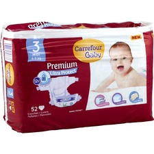 Couches taille 3, 4-9 kg Carrefour Baby Premium Ultra Protect