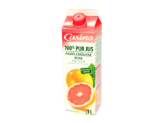 Jus de fruits frais pamplemousse rose