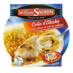 Colin d'Alaska sauce citron riz safrane William Saurin 300g