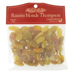 Albert Menes Raisins Blonds Thompson 125G