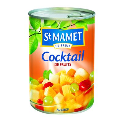 Cocktail de fruits au sirop ST MAMET, 250g