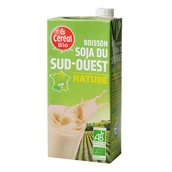 Boisson au soja nature Bio & Local CEREAL BIO, 1l