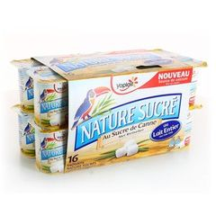 YOPLAIT NATURE SUCRE 125GX16