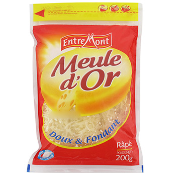 Fromage rape Meule d'Or Sachet zip 200g