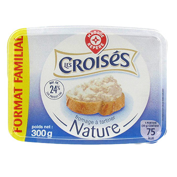 Fromage a tartiner Les Croises Nature 24%mg 300g