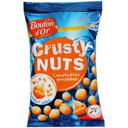Bouton d'Or, Crusty Nuts - Cacahuetes enrobees, finement salees, le sachet de 125g