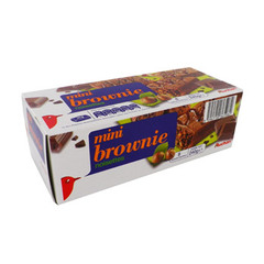 mini brownie noisettes x8 auchan 240g