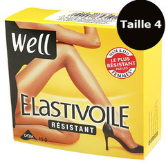 Collant elastivoile satine Well Noir t4