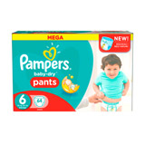 couches baby dry pants taille 6 pampers mega x64