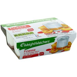 WEIGHT WATCHERS FINESSE 0% MG SUR LIT DE FRUITS JAUNES 100GX4