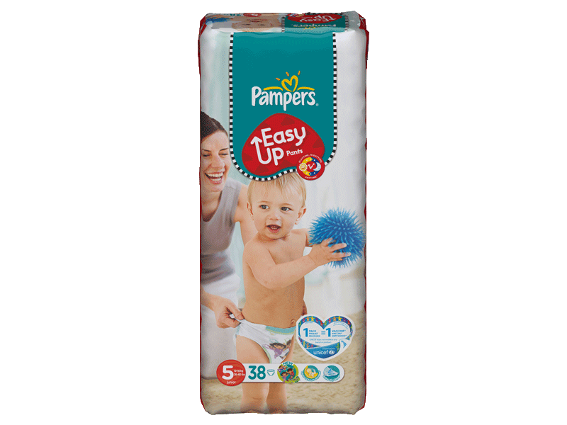 Pampers easy up 12-18kg geant T5 junior x38