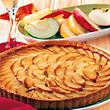 Tarte pomme rhubarbe, 6 a 8 parts, 650g
