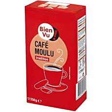 Cafe tradition moulu Bien Vu, paquet de 250g