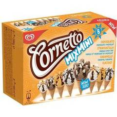Cornetto, Assortiment de cônes Mix Mini, la boite de 8 - 288 g