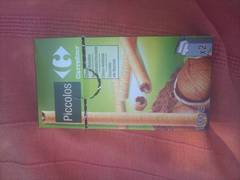 Biscuits gaufrettes piccolos choco noisette Carrefour