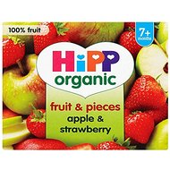 HiPP Organic From 7 + Months Puree and Pieces Apple and Strawberry with Real Apple Pieces 4 x 100 g (Pack of 6...