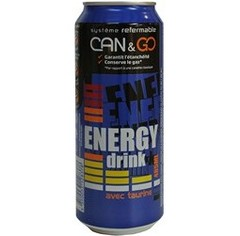 Energy Drink, avec système refermable